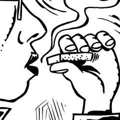 Tjej som röker